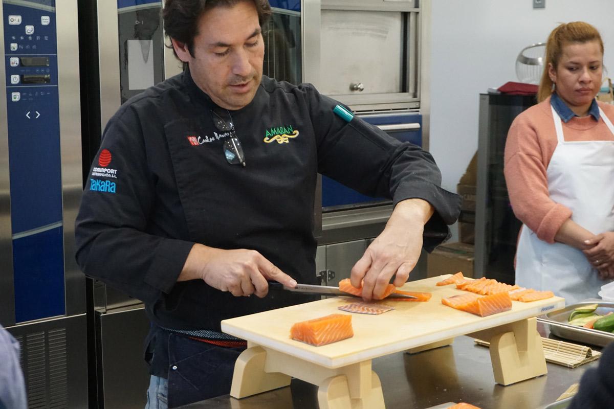 Corte de sushi con carlos navarro