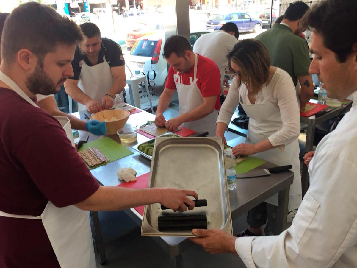 Preparación de Sushi con Carlos Navarro